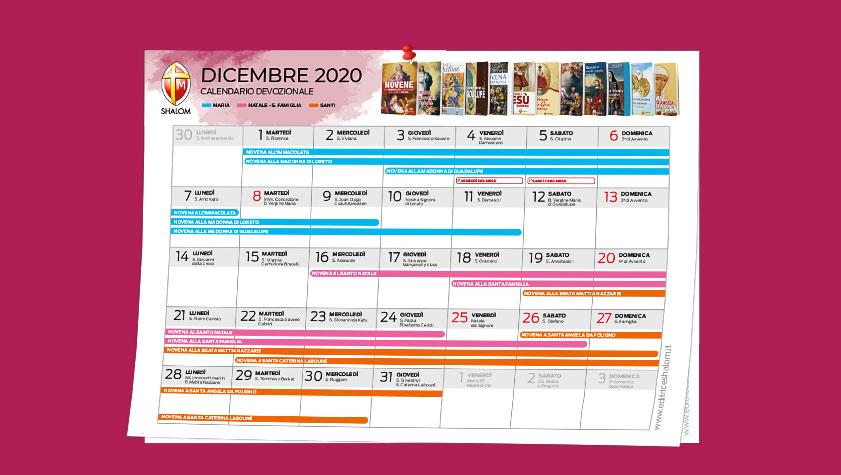 Dicembre: calendario devozionale