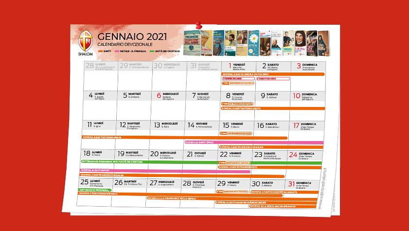 Calendario devozionale gennaio 2021