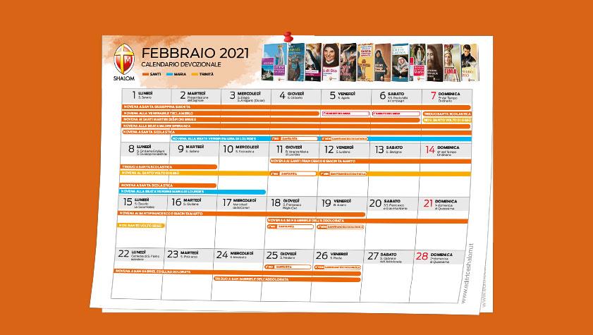 Calendario devozionale – febbraio 2021